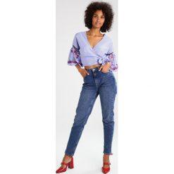 Bluzki asymetryczne: Topshop STRIPE WRAP  Bluzka blue