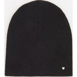 Czapki zimowe damskie: Dzianinowa czapka – Czarny