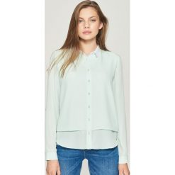 Koszula z białym kołnierzem - Turkusowy. Niebieskie koszule damskie Sinsay, l. W wyprzedaży za 29,99 zł.