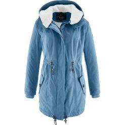 """Długa kurtka zimowa z kołnierzem """"barankiem"""" bonprix niebieski dżins. Niebieskie bomberki damskie bonprix, na zimę. Za 239,99 zł."""
