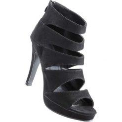 Sandały bonprix czarny. Czarne sandały damskie marki Sinsay, na szpilce. Za 99,99 zł.