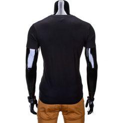 T-SHIRT MĘSKI Z NADRUKIEM S812 - CZARNY. Czarne t-shirty męskie z nadrukiem Ombre Clothing, m. Za 29,00 zł.