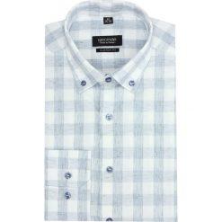 Koszula versone 2744 długi rękaw custom fit niebieski. Szare koszule męskie marki Recman, m, z długim rękawem. Za 149,00 zł.