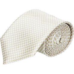 Krawaty męskie: krawat platinum beż classic 203