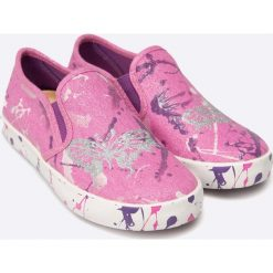 Geox - Tenisówki dziecięce. Szare buty sportowe dziewczęce Geox, z gumy. W wyprzedaży za 199,90 zł.