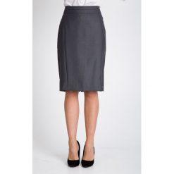 Spódnice wieczorowe: Szara elegancka spódnica z bocznymi szwami QUIOSQUE