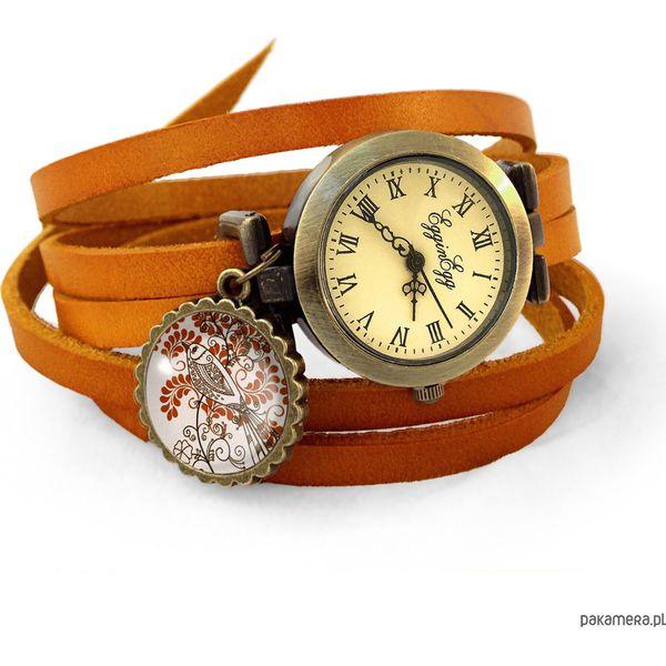 72f64af1898ed9 Skórzany zegarek Orientalny ptak - 0644 - Brązowe zegarki damskie Pakamera.  Za 120,00 zł. - Zegarki damskie - Biżuteria i zegarki damskie - Biżuteria i  ...