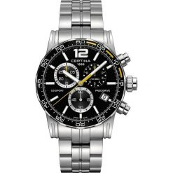 PROMOCJA ZEGAREK CERTINA DS SPORT GENT QUARTZ C027.417.11.057.03. Czarne zegarki męskie CERTINA, ze stali. W wyprzedaży za 2072,40 zł.