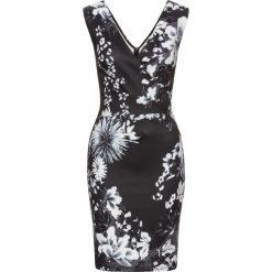 Sukienki hiszpanki: Sukienka w kwiaty bonprix czarno-biały