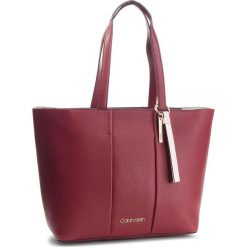 Torebka CALVIN KLEIN - City Leather Shopper K60K604476 628. Szare shopper bag damskie marki Calvin Klein, szklane. Za 1299,00 zł.