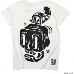 T-shirt Big Skull Regular. Czarne t-shirty męskie marki Pakamera, m, z kapturem. Za 139,00 zł.