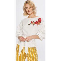 Haily's - Bluzka Viola. Szare bluzki nietoperze marki TOMMY HILFIGER, m, z nadrukiem, z bawełny, casualowe, z okrągłym kołnierzem. W wyprzedaży za 69,90 zł.