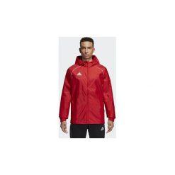 Bluzy dresowe adidas  Kurtka przeciwdeszczowa Core 18. Czerwone kurtki męskie przeciwdeszczowe Adidas, l, z dresówki. Za 169,00 zł.