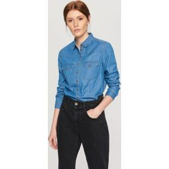 Jeansowa koszula - Niebieski. Białe koszule jeansowe damskie marki FOUGANZA. Za 59,99 zł.