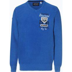 Camp David - Sweter męski, niebieski. Niebieskie swetry klasyczne męskie marki Reserved, l, polo. Za 449,95 zł.