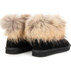 Buty zimowe damskie: Skórzane mukluki JILLIAN