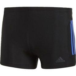 Bokserki kąielowe, 3 Stripes. Czarne kąpielówki męskie adidas Performance, w paski, z elastanu. Za 138,56 zł.