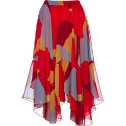 Spódniczki: Spódnica z nadrukiem bonprix bordowo-szary z nadrukiem