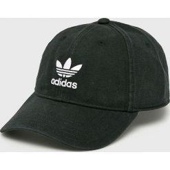 Adidas Originals - Czapka. Czarne czapki z daszkiem męskie adidas Originals, z bawełny. Za 89,90 zł.