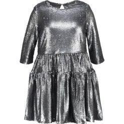Sukienki hiszpanki: Lost Ink Plus SMOCK DRESS  Sukienka koktajlowa silver