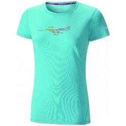 Bluzki sportowe damskie: Mizuno Koszulka Imp Core Graphic Tee Blue Atoll Mel S