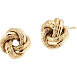 Kolczyki damskie: Zjawiskowe Złote Kolczyki - złoto żółte 585