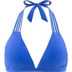 Stroje kąpielowe damskie: Biustonosz bikini z trójkątnymi miseczkami bonprix niebieski