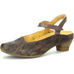 """Rzymianki damskie: Skórzane sandały """"Aida"""" w kolorze brązowym"""