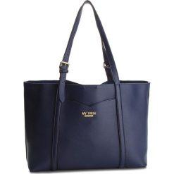 Torebki klasyczne damskie: Torebka MY TWIN - Shopping RA8PGN  Bic. Blue/Fiori Giall 03210