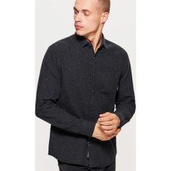 Koszula o regularnym kroju - Czarny. Czarne koszule męskie marki Cropp, l. Za 89,99 zł.