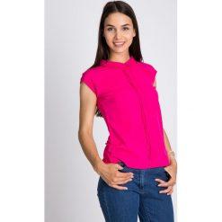 Bluzki damskie: Różowa bluzka z haftowanym kołnierzykiem QUIOSQUE