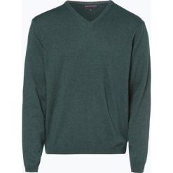 Finshley & Harding - Sweter męski z kaszmiru i jedwabiu, zielony. Czarne swetry klasyczne męskie marki Finshley & Harding, w kratkę. Za 299,95 zł.