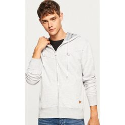 Bluza z kapturem - Jasny szar. Czarne bluzy męskie rozpinane marki Reserved, l, z kapturem. Za 69,99 zł.
