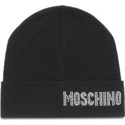 Czapka MOSCHINO - 65128 M1862 016. Czarne czapki zimowe damskie MOSCHINO, z materiału. Za 449,00 zł.