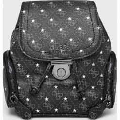 Guess Jeans - Plecak Affair. Czarne plecaki damskie marki Guess Jeans, z aplikacjami, z jeansu. Za 589,90 zł.