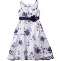 Sukienki dziewczęce z falbanami: Sukienka na uroczyste okazje bonprix bez – ciemny lila