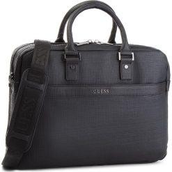 Torba na laptopa GUESS - HM6544 POL84 BLA. Czarne torby na laptopa marki Guess, z aplikacjami, ze skóry ekologicznej. W wyprzedaży za 539,00 zł.