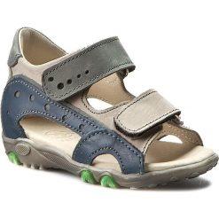 Sandały męskie skórzane: Sandały FALCON – 2051 Szary/Granat 339/152