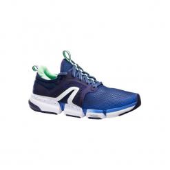 Buty damskie do szybkiego marszu PW 590 Xtense w kolorze niebiesko-zielonym. Niebieskie buty do fitnessu damskie marki NEWFEEL, z gumy. Za 199,99 zł.