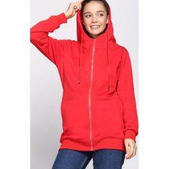 Czerwona Bluza Multifariousness. Czerwone bluzy rozpinane damskie Born2be, l, z dresówki, z długim rękawem, długie, z kapturem. Za 69,99 zł.