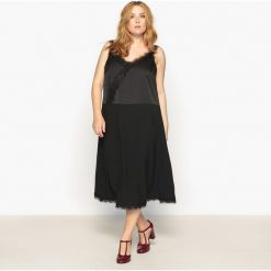 Długie sukienki: Prosta, gładka, długa sukienka na cienkich ramiączkach