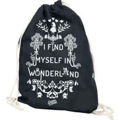 Torebki klasyczne damskie: Alicja w Krainie Czarów I Find Myself In Wonderland Torba treningowa czarny