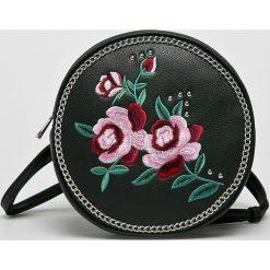 Missguided - Plecak. Czarne plecaki damskie marki Missguided, z haftami, ze skóry ekologicznej. W wyprzedaży za 99,90 zł.
