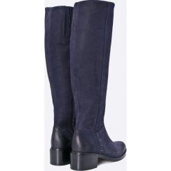 Carinii - Kozaki. Szare buty zimowe damskie Carinii, z materiału, z okrągłym noskiem. W wyprzedaży za 299,90 zł.