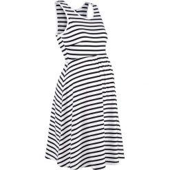 Sukienka ciążowa shirtowa w paski bonprix czarno-biały w paski. Białe sukienki ciążowe marki bonprix, na lato, w paski, z dżerseju, moda ciążowa. Za 89,99 zł.