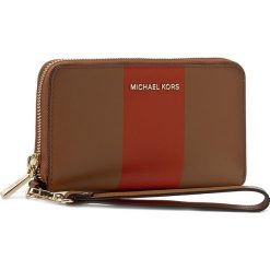 Portfele damskie: Duży Portfel Damski MICHAEL KORS – Center Stripe 32S7GIJE7L Acorn/Orange