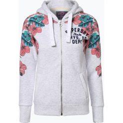 Superdry - Damska bluza rozpinana, szary. Szare bluzy rozpinane damskie Superdry, xl, w kwiaty. Za 299,95 zł.