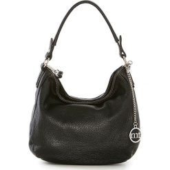 Shopper bag damskie: Skórzana torebka w kolorze czarnym – 30 x 20 x 8 cm