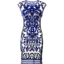 Sukienki hiszpanki: Sukienka bonprix biało-niebieski