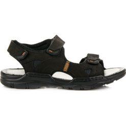 Sandały męskie: Skórzane sandały mckeylor GRACIE czarne